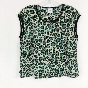 Cabi | Jungle Blouse Green Leopard Style 3260